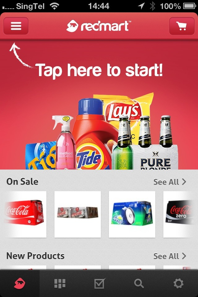 RedMart iPhone app