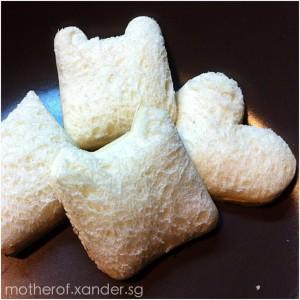 Mini cheese sandwiches