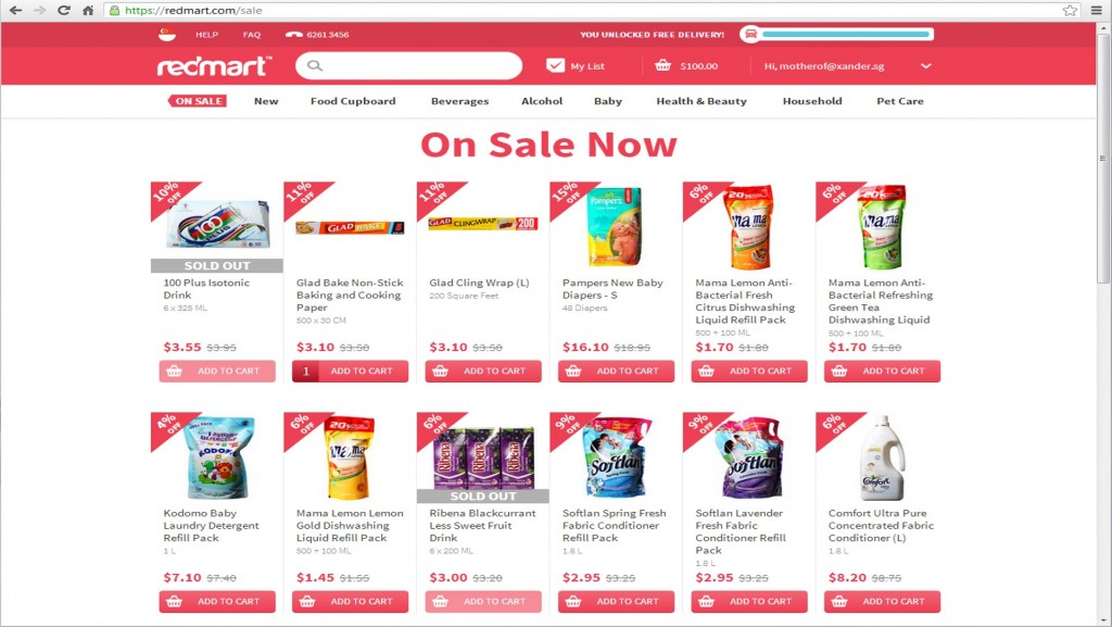 redmart_sale page