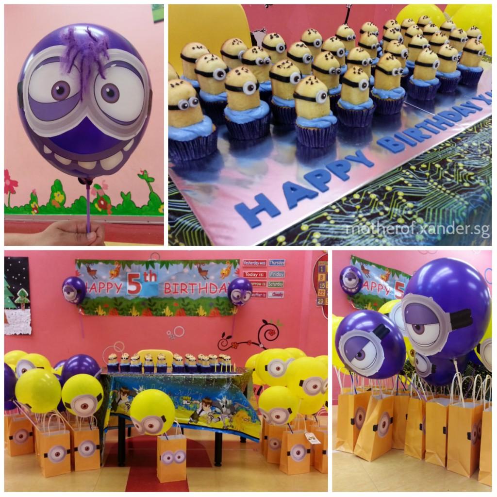 Minion balloons, Minion cupcakes